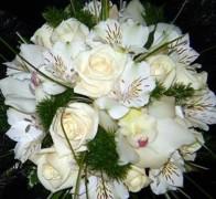 Букет невесты из орхидей №19